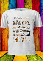 Yoga Cats Kitten Kitty Funny Gym Cut T-shirt Vest Tank Top Men Women Unisex 2006