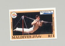 Maldives #1750 Olympics, Gymnastics 1v Imperf Proof