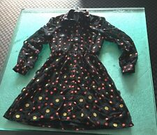 Alice + Olivia Black Dress with red and black embroidered flowerSize 6 NWT $599