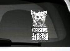 Yorkshire Terrier A Bordo,Pegatina Para Coche,Gran Detalle,para