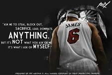 "25 LeBron James Miami Heat 2012 NBA Champion MVP 21""x14"" Poster"
