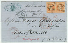 France cover 1870 From Cognac to San Francisco (USA) - Steamer