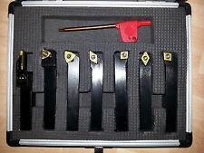 Lathe Tools - 7pcs Indexable Carbide Titanium Coated Manual 12mm Tip Height