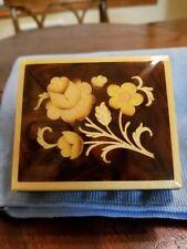 Romance Wood Flower Music Box - Inlaid Wood Flowers