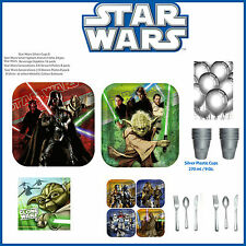 Star Wars Boys Birthday Party Table Pack Pack Cups plates napkins cutlery & gift
