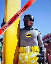 BATMAN 60'S TV SHOW ADAM WEST with SURF BOARD AND SWIM TRUNKS 8x10 PHOTO #8029