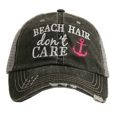 BASEBALL CAP- TRUCKER CAP -  BEACH  HAIR DON'T CARE  HAT -MESH HAT