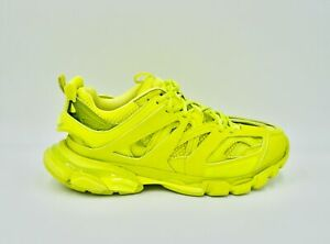 BALENCIAGA Yellow Track Nylon, Mesh and Rubber Sneakers