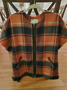 Anthropologie Plaid Cape/ One Size.