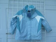 NWT Lands End Light Blue 3-in-1  Hooded Coat/Jacket  Kids  Girls Small (4)
