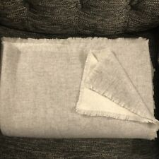 Restoration Hardware Cashmere Two Toned Throw, 96x80, Natural/Grey
