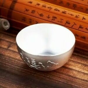 99.9% Silver Silverware Teacup 4.5cm * 2.2cm Chinese Style Drink Tea Cup