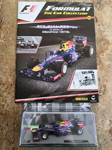 F1 THE CAR COLLECTION BOOK & DIECAST VEHICLE - RED BULL RB9  - SEBASTIAN VETTEL