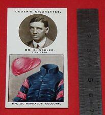 JOCKEY 1926 OGDEN'S CIGARETTES CARD TRAINERS OWNERS' COLOURS 24 G. SADLER