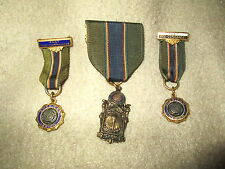 3 American Legion Medals & Ribbons 1 R.O.T.C. Military Excellence Vice Commander