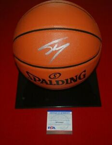 SHAQUILLE O'NEAL LOS ANGELES LAKERS autographed signed BASKETBALL PSA COA