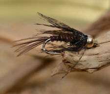 1 Doz Bh Pheasant Tail Nymph Flies - Soft Hackle - Fly Fishing on Mustad Hooks