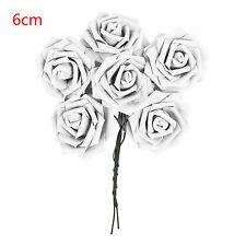 6X Espuma Rosas Ramo Boda Nupcial calidad Flores Artesanales Decoración 6/8CM