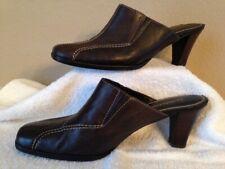 Liz Claiborne Women's Brown Leather Mule Slides, Size 8M
