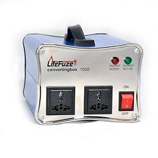 LiteFuze convertingbox 1000 Watt Voltage Converter Transformer Premium - Blue