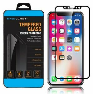 For iPhone 11 Pro X XS Max XR Full Coverage Tempered Glass Screen Protector 3D