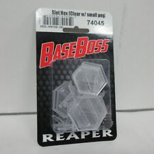 Reaper Miniatures BaseBoss 1 Inch Clear Slotted Hex w/ Hover Peg 10/10c 74045
