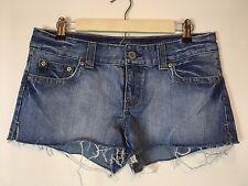 American Eagle Denim Jean Short Shorts Size 8 Cut-offs 100% Cotton Flap Pockets