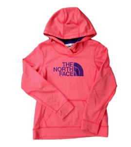 Women's The North Face Hoodie Size Medium Pink Lightweight Fleece Pullover