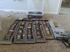 Huge SNES Super Nintendo Collection / Lot - Multitap, Controller, Console, Games