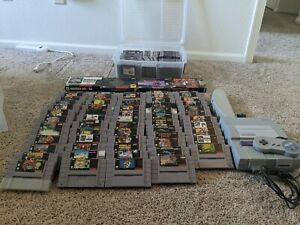 Huge SNES Super Nintendo Collection / Lot - Multitap, Controller, Console, Games