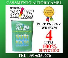 OLIO MOTORE AUTO SELENIA PURE ENERGY WR 5W30 100% SINTETICO 4 LT LITRI