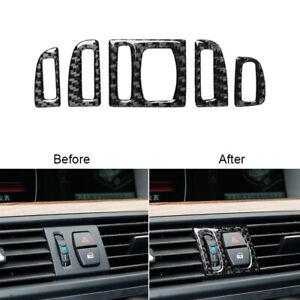 For BMW F10 5Series F07 2011-2017 Carbon Fiber Air Conditioner Panel Cover Trim