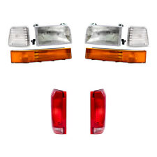 8 Pc Set Headlight Tail Lamp Corner & Side Lamps for Ford Pickup Truck Bronco