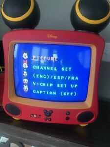 """Disney 13"""" Mickey Mouse Special Edition TV, with Remote DT1350-C"""