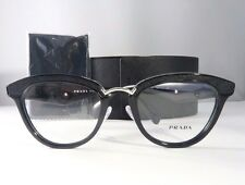 Prada VPR 26S 1AB-1O1 Shiny Black New Authentic Eyeglasses 51mm w/ Case