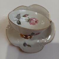 Johann HavilBavaria cup and Saucer set  pink  floral with gold  trim vintage