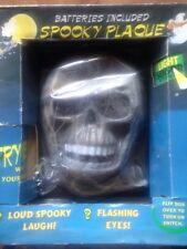 + targa spaventosa  da appendere sulla porta halloween con sensore  pile inclus