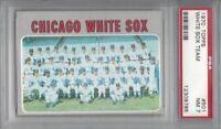 1970 Topps baseball card #501 Team, Chicago White Sox graded PSA 7