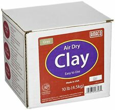 AMACO Air Dry Modeling Clay 10-Pound Gray Grey NEW FREE SHIPPING