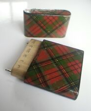 c1900 Wheeler & Wilson Sewing Machine Prince Charlie Tartanware Etui Needle Case