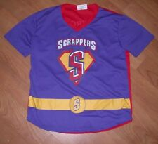 Mahoning Valley Scrappers Superhero Baseball Jersey SGA Youth XL Nice Indians
