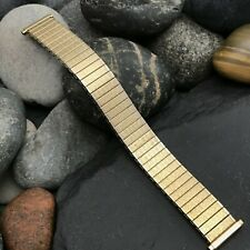 Gold-tone 1970s Expansion Speidel USA Vintage Watch Band 16mm 18mm 19mm