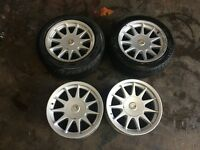 "BMW E30 M3 16"" Hartge staggered alloy wheels & caps 5x120 E24 E28 E34 Alpina BBS"