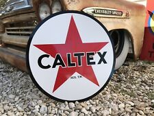 Antique Vintage Old Style Caltex Exxon Gas Oil Sign