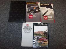 1992 GMC Safari Van Owner Owner's Operator User Guide Manual Set SLE SLT 4.3L V6