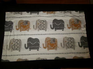 The Company Store King Pillow Sham Pair Elephants White Brown Gray Black Orange