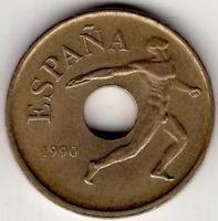 1990 SPAIN 25 PESETAS PTAS 1992 BARCELONA OLYMPICS DISCUS THROW NICE WORLD COIN