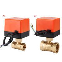 Electric Motorized Ball Valve AC220V 1/2''-1'' DN15-25 2 Way 3 Wire Brass