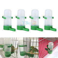 4pcs Pet Cage Aviary Bird Parrot Budgie Canary Drinker Food Feeder Waterer Clip