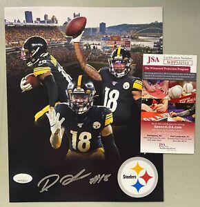 Diontae Johnson Steelers Signed 8x10 Photo Autographed AUTO JSA COA